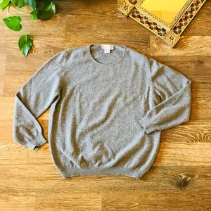 Alan Austin cashmere Beverly Hills sweater in gray